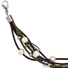 Modeschmuck-Armbänder im Ketten-Stil aus Leder