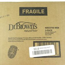 Dr. Brown's Optionas Wide Neck Glass Baby Bottles 5 Ounce New