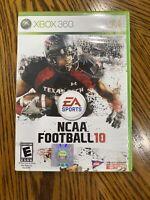 NCAA Football 10 (Microsoft Xbox 360, 2009) Complete