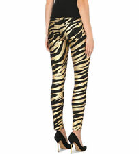 HUDSON JEANS Women's Nico Metallic zebra-print super-skinny jeans sz 24