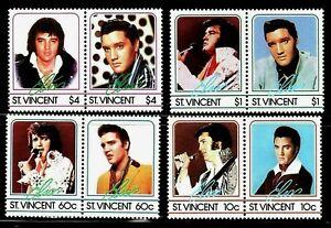 SELLOS TEMA CINE. ST. VICENTE 1985 ELVIS PRESLEY  870/77 8v.