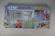 Fischertechnik Portalkran mit Container-Wagen Baukasten Modell Bausatz Set