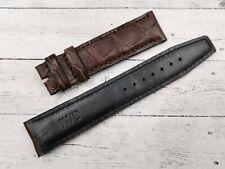 IWC Brown Opaco 20mm Promozione Marrone Opaco Vero Coccodrillo Cinturino Ricambi