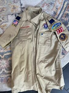 Boy Scouts Of America Adult Leaders Uniform Shirt w/patches Size Adult X Large