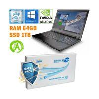 """LENOVO THINKPAD P50 I7 6820HQ 15,6"""" DDR4 64GB SSD 1TB NVIDIA TASTIERA ITA-"""