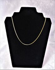 18CT SOLID YELLOW GOLD FINE QUALITY DIAMOND CUT FLAT CURB NECKLACE/CHAIN 2.6gr