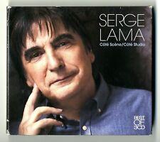RARE COFFRET 3 CD ★ SERGE LAMA - COTE SCENE , COTE STUDIO (BEST OF 3 CD) ★