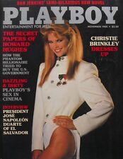 CHRISTIE BRINKLEY November 1984 PLAYBOY Magazine HOWARD HUGHES SECRET PAPERS