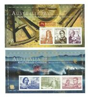 MAD167) Australia 1999 Navigators Minisheet APF Ovpt (2) MUH