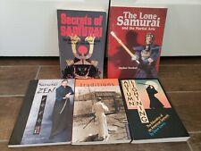 Lot 5 MARTIAL ARTS Lot Books Samuri Zen Karate Turnbull Japan Lowry Ratti Shaw
