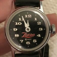 Vintage Us Time Zorro Collectible Childs Watch Working Estate Fresh
