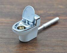 1pc Metal Toilet Smoking Pipe Portable Creative Herb Tobacco Cigarette Ignescent