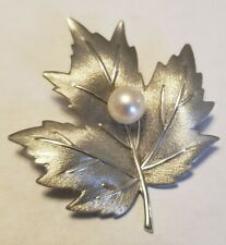 Pearl Sterling Silver Brooch New listing