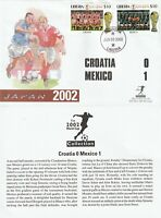 LIBERIA 3 JUNE 2002 WORLD CUP CROATIA 0 MEXICO 1 MERCURY LE FIRST DAY COVER