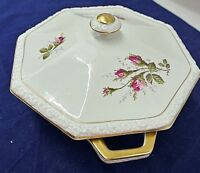 """ROSENTHAL, MARIA, CLASSIC ROSE, COVERED VEGETABLE BOWL, 8-1/4"""", GERMANY"""