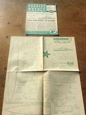 1955 Hobbies Weekly Magazine 1950s Model British Warship The Cruiser Ship