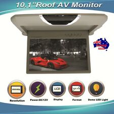 """NEW SLIM 10.1"""" GREY OVERHEAD LCD MONITOR FLIP DOWN CAR ROOF MONITOR WITH REMOTE"""