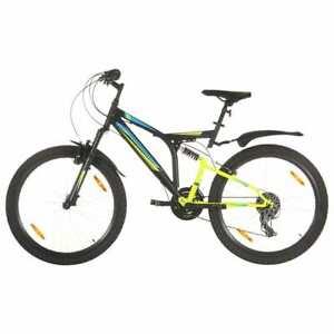 vidaXL Mountain Bike 21 Speed 26 inch Wheel 49 cm Black Outdoor Sport Bicycle
