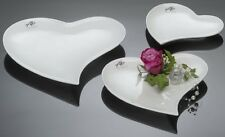 Herzteller schale Sandra Rich 17x16cm Porzellan brilliant WEISS B-ware