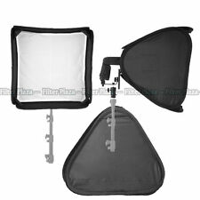 "PRO Portable 24""/60cm Softbox For SpeedLight Flash Hot Shoe Soft Box Kit 60x60cm"