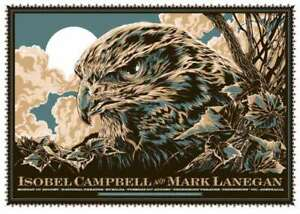 ISOBEL CAMBELL MARK LANEGAN POSTER  QUEENS OF THE STONE AGE 2011 MELBOURNE