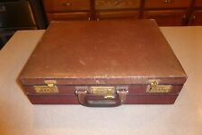 Gold Pfeil Attaché Case HandMade West Germany Briefcase Leather Dual Double