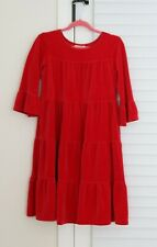 Girls RED Christmas Hanna Andersson Dress Velour size 120 (6-7yr)