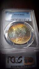 1884 O Silver Morgan Dollar PCGS MS 65 Rainbow Monster Toned Coin.