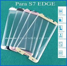 PROTECTOR CRISTAL TEMPLADO Para SAMSUNG GALAXY S7 EDGE 3D CURVADO tempered glass