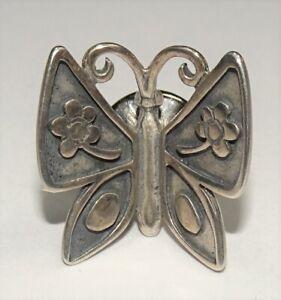 James Avery Sterling Silver Mariposa Flower Butterfly Lapel Pin