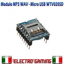Modulo lettore audio WTV020 MP3 WAV PER MICRO SD audio musica Arduino - BE09