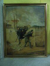 """QUADRO """"SOGGETTO MILITARE"""" - FRANCIA - EPOCA  1927 - MIS. CM 80x100 -  ANTIKIDEA"""