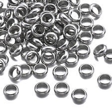 100pcs 304 Stainless Steel Bead Spacers Metal Ring Fit European Charm 8x2.5mm