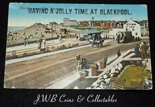 "Old Postcard Of Blackpool ""Having A Jolly Time At Blackpool"""