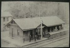Vintage RP Elkhorn VA Virginia 1891 Depot Train Station Photo Image