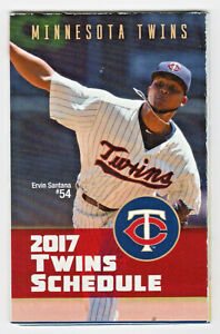 Minnesota Twins 2017 Pocket Schedule - Featuring Ervin Santana