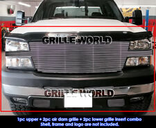 Aluminum Billet Grille Combo  For 2005-2006 Chevy Silverado 2500/3500 Full Face