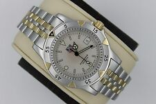 Tag Heuer WD1221 Gold 1500 Professional 2Tone SS Watch Mens Mint Crystal 955.713