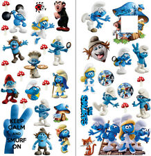THE SMURFS wall stickers and  LIGHT SWITCH SURROUND WALL STICKER decals 70X35X2