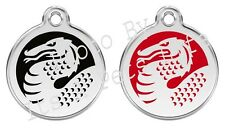 Dragon Enamel/Solid Stainless Steel Engraved ID Dog/Cat Tag