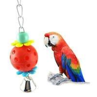 Pet Parrot Bird Bites Climb Chew Toy Swing Bell Cage Re Hanging Cockatiel-P C8I7