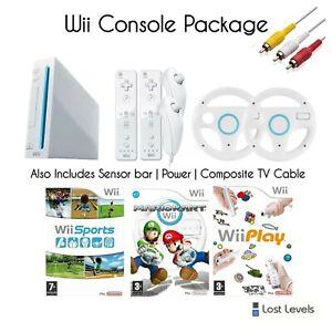 Nintendo Wii Console Bundle   Mario Kart   2 Controls   Choice of Balance Board