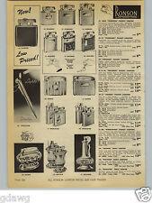 1954 PAPER AD Ronson Penciliter Pen Lighter Cigarette Maximus Pocket Table