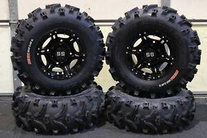 "POLARIS ACE 570 25"" XL BEAR CLAW  ATV TIRE & VIPER BLK WHEEL KIT POL3CA"