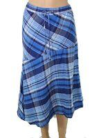 Lauren By Ralph Lauren Women's Peasant Skirt Blue Size 14 Asymmetrical $125 #300