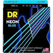 DR Electric Guitar Strings K3™ NEON™ Hi-Def© Blue Medium 10-46 NBE-10