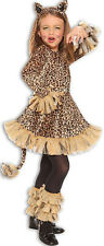 Leopard Girl Childs Wild Animal Printed Cat Halloween Costume