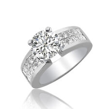 Round Shape 18k White Gold Diamond Engagement Ring 5.00 CT GIA Certified