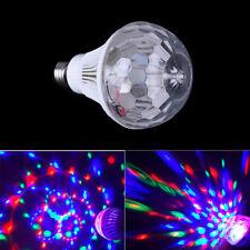 Colorful Auto Rotating RGB Crystal Stage Light Magic double Balls Bulb Lamp Ea
