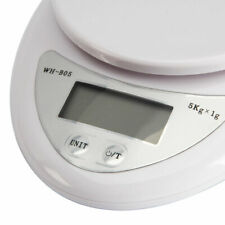 5Kg/1g Accurate Kitchen Mail LCD Digital Scale For Food Weight Control White
